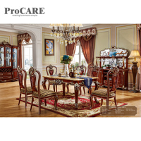 6 Seater most popular marble top dining table sets 6001