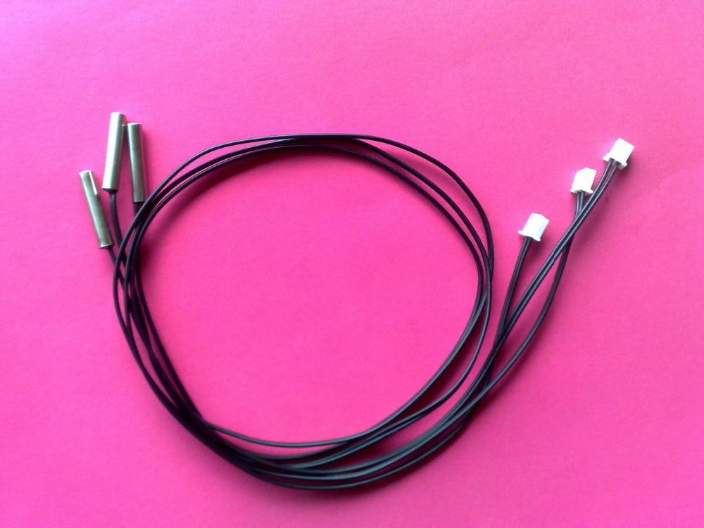 Customized ntc temperature sensor waterproof B3950 3435 3990 3470 10K 5K 50K 100K 1% 2% 5% 6*25  5*25 5*30 temperature sensor-in Sensors from Electronic Components & Supplies    1
