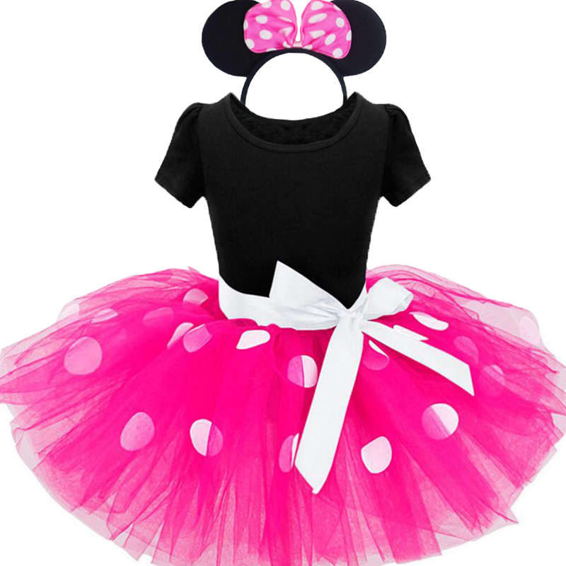 Infant Minnie Mouse Costume | Disney Frozen 2019 Summer New Kids Dress Minnie Mouse Princess Party Costume Infant Clothing Dot Baby Clothes Birthday Dresse