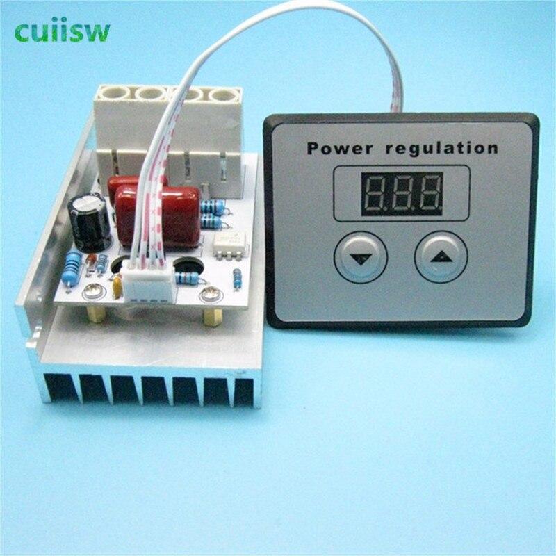 AC 220V 10000W 80A SCR Digital Voltage Regulator Speed Control Dimmer Thermostat