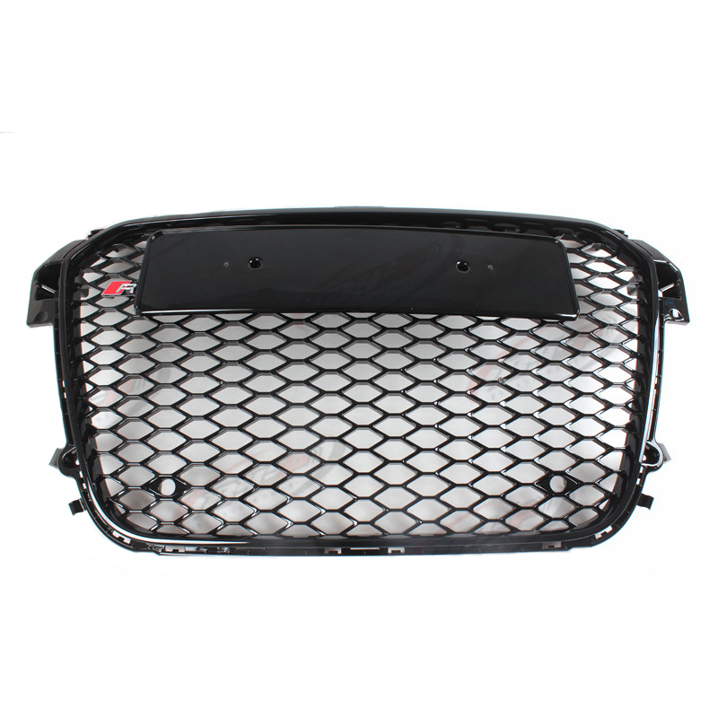 RS1 Style Black Front Middle Grill Grille For Audi A1 2010-2015 RS1 Black Logo