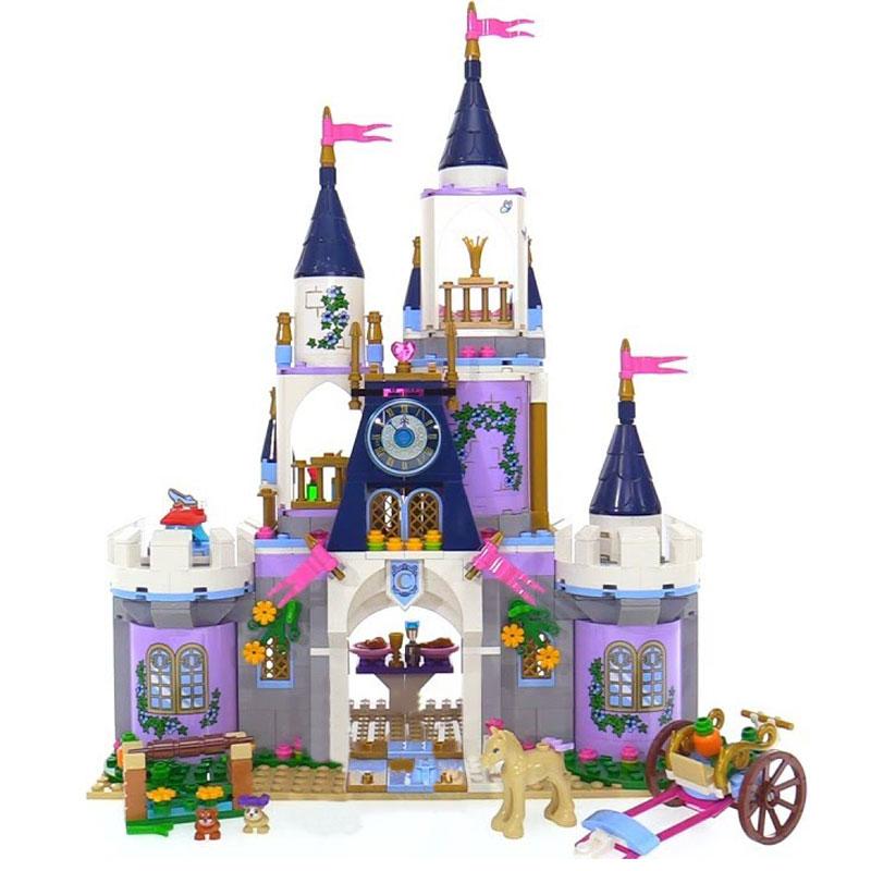 Lepin 25014 duplo Toys 655Pcs Movie Series The 41154 Dream Castle Set building Block Bricks Educational Funny ninjago Kids Gifts 10pcs set original duplo dinosaur series