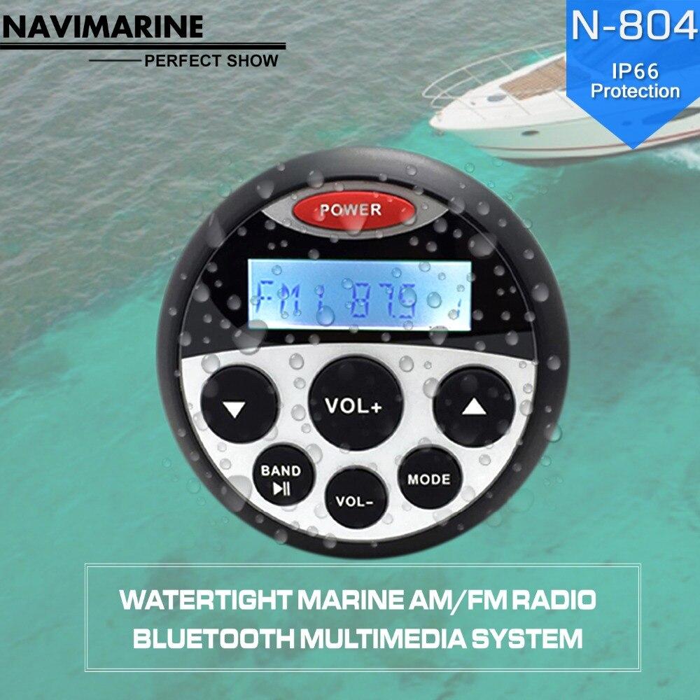 Impermeabile per Barche Marine Ciclo Digital Media Ricevitore Bluetooth per Moto/Barca Yacht/piscine termali/golf cart/UTV/AT