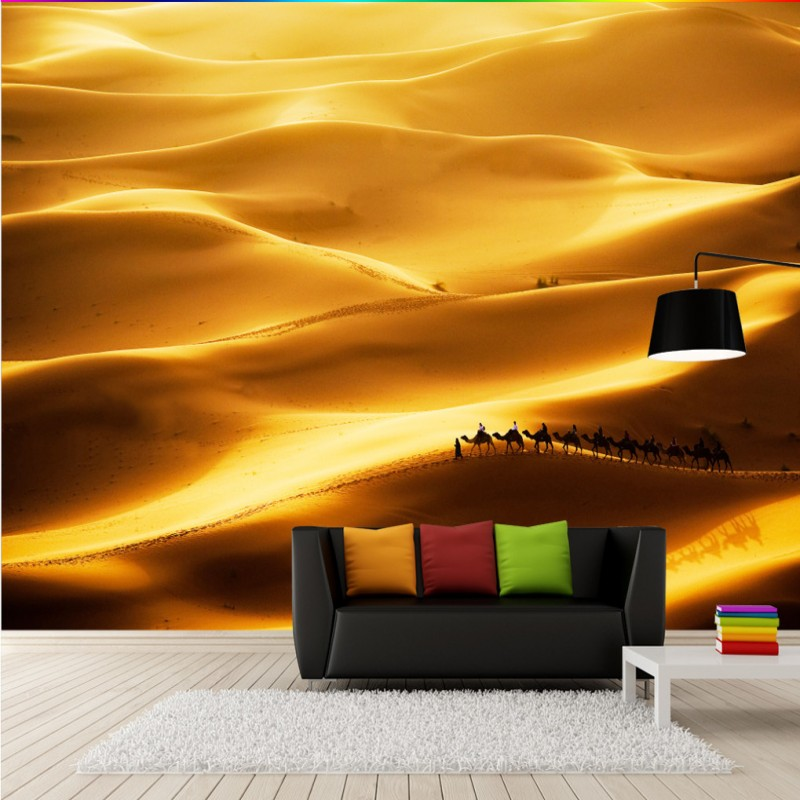 Free Shipping 3D stereo camel desert Gobi Desert Chinese fresco TV backdrop wallpaper stereo bedroom restaurant mural chinese folk classical bronze desert twin peaks camel llama statue