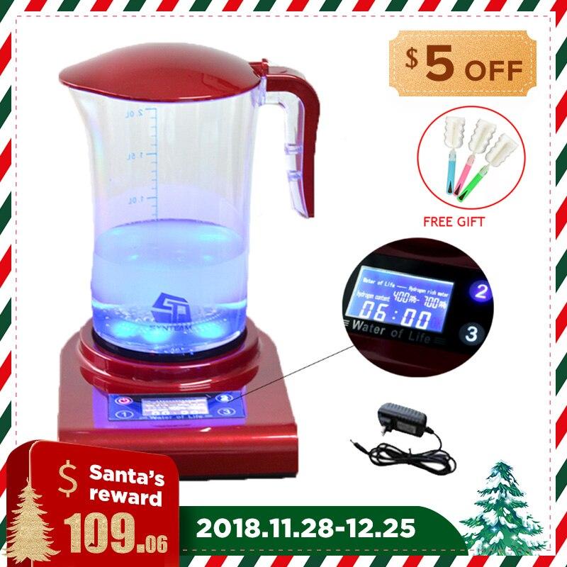 SYNTEAM 2.0L Grande Idrogeno Acqua E Caffè di Marca di Acqua Alcalina Ionizzatore Generatore di Idrogeno SALUTE CURA DEL PRODOTTO Anti Invecchiamento WAC001