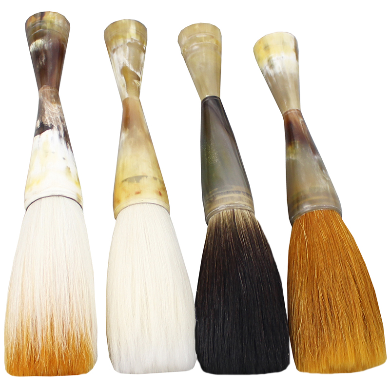natural ox horn big hopper-shaped brush calligraphy painting master creation great art Brush pen chinese boutique papeleria 1pcs 2pcs set chinese painting book album of zheng banqia bamboo orchid master brush ink art