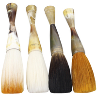 natural ox horn big hopper shaped brush calligraphy painting master creation great art Brush pen chinese boutique papeleria 1pcs