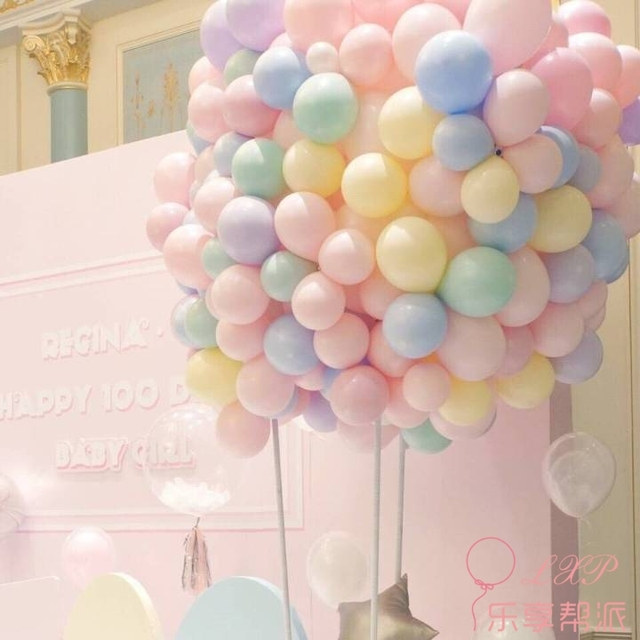 100pcs 10inch Latex Balloon Macaron Color Wedding Decoration Baloons Baby Birthday Party Valentine's Day Decor Balloon