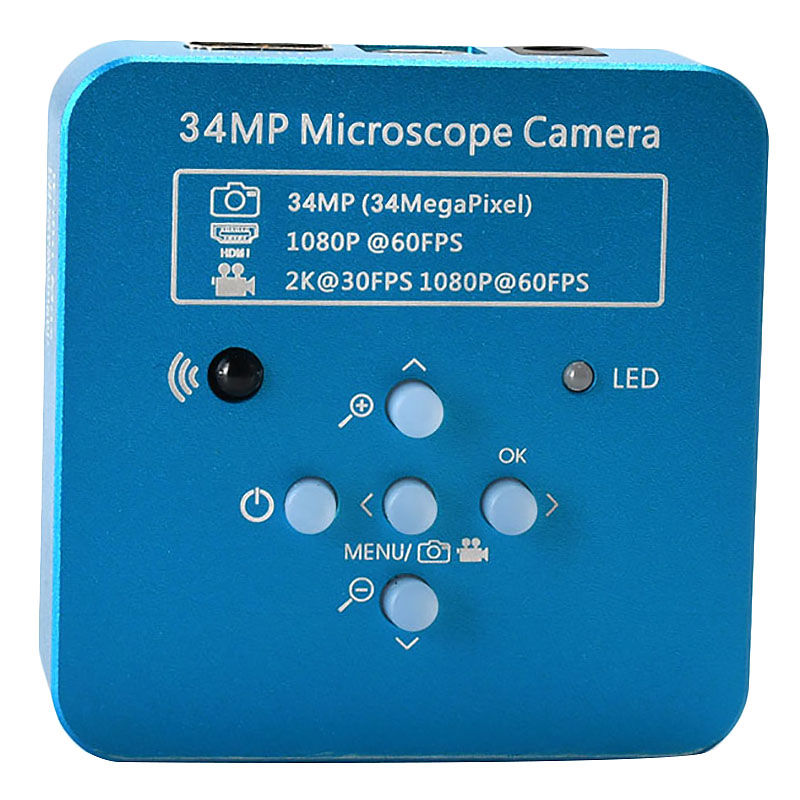 34Mp 2K 1080P 60Fps Hdmi Usb Industrial Electronic Digital Video Soldering Microscope Camera Magnifier For Phone Pcbtht Repari