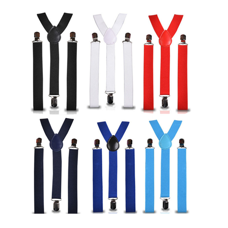 Gentle Women Suspenders Hot-selling 2.5*100cm Adjustable Elastic 3 Clips Men Shirt Match Suspender Braces Min.10pcs Bd001-l Superior Materials Men's Accessories Apparel Accessories