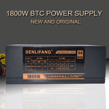SENLIFANG  Gold POWER 1800W LIANLI 1800W  power supply for R9 380 RX 470 RX480 6 GPU CARDS DHL free shipping