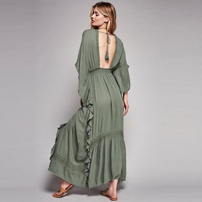 Boho Backless Dress