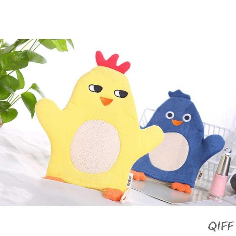 Dzieci dziecko rękawica kąpielowa oczyszczacz antypoślizgowy masaż ciała złuszczający gąbka Spa pianka kreskówka kąpiel tarcie ręcznik kąpielowy