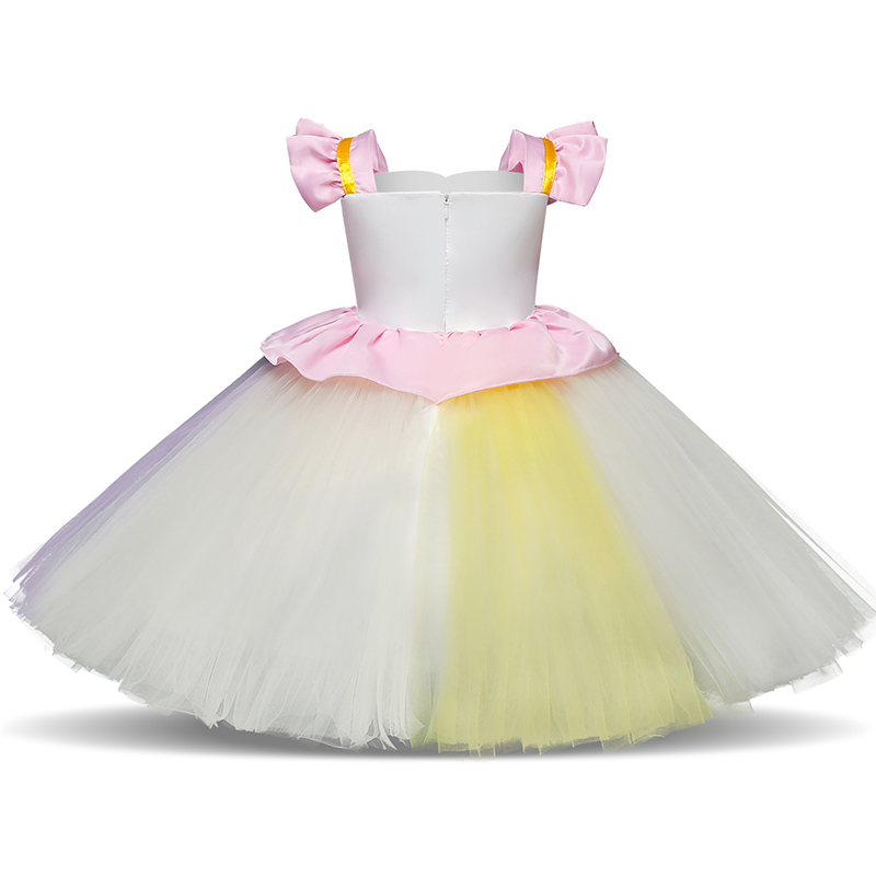 Unicorm Flower Girl Dress Fancy Ball Gowns Kids Dresses For Girls Party Princess Girl Clothes 1 2 3 4 5 Year Birthday Dress