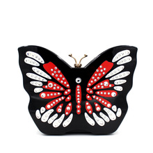 2016 Europe and the butterfly-shaped diamond evening bag high-grade acrylic holding evening bag evening bag BB163