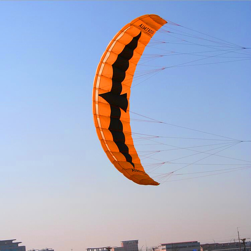 Livraison gratuite haute qualité 5 mètres carrés cascadeur puissance cerf-volant embarquement avec barre de contrôle et ligne traction cerf-volant volant jouets de plein air