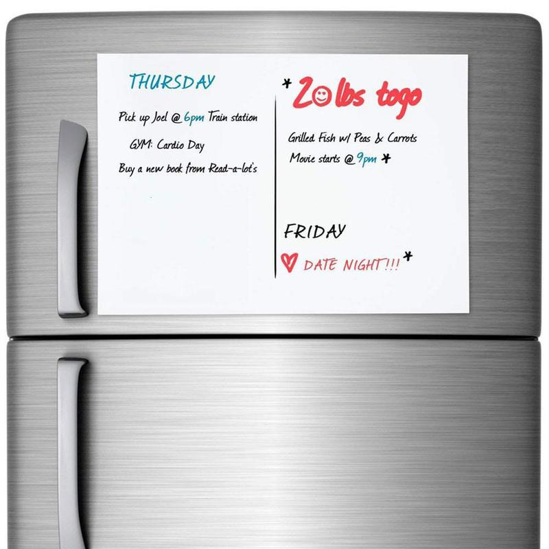 Flexible A3 A4 Size Magnetic Whiteboard for Fridge Magnets White <font><b>Board</b></font> Marker Message <font><b>Board</b></font> Memo Pad Remind Record <font><b>Notes</b></font> Sticker image