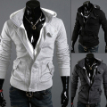 Men's Fashion Casual Long Sleeve Slim Zipper Cardigan Hooded Hoodie Jacket Coat 09WG