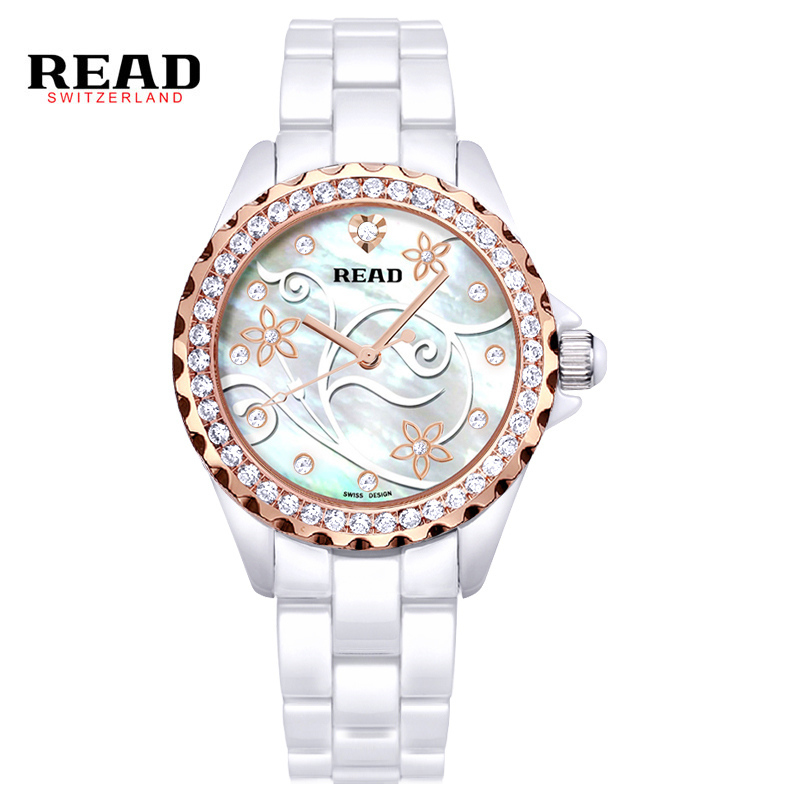 READ 2017 New Fashion Waterproof Clock Hour Dial Hand White Rose Ladies Watches Women Dress Steel Wrist Watch PR43 средство для септиков и биотуалетов thetford bathroom cleaner 750 мл