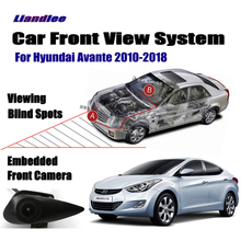 Liandlee Car Front View Logo Embedded Camera AUTO CAM For Hyundai Avante 2010-2018 2015 ( Not Reverse Rear Parking )