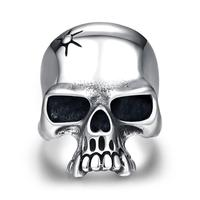 Ann Snow New Cool 316L Stainless Steel Ring High Quality Men Pun Skull Fashion Jewelry Punk