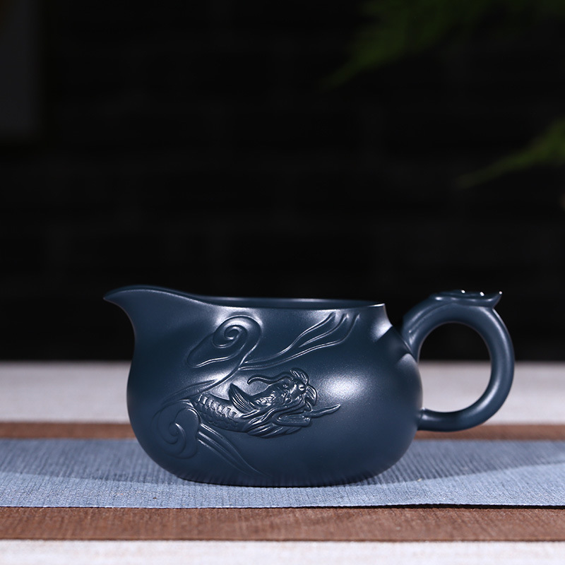 Authentic yixing recommended handmade undressed ore azure mud fish dragon fair justice cup pot of kung fu tea potAuthentic yixing recommended handmade undressed ore azure mud fish dragon fair justice cup pot of kung fu tea pot