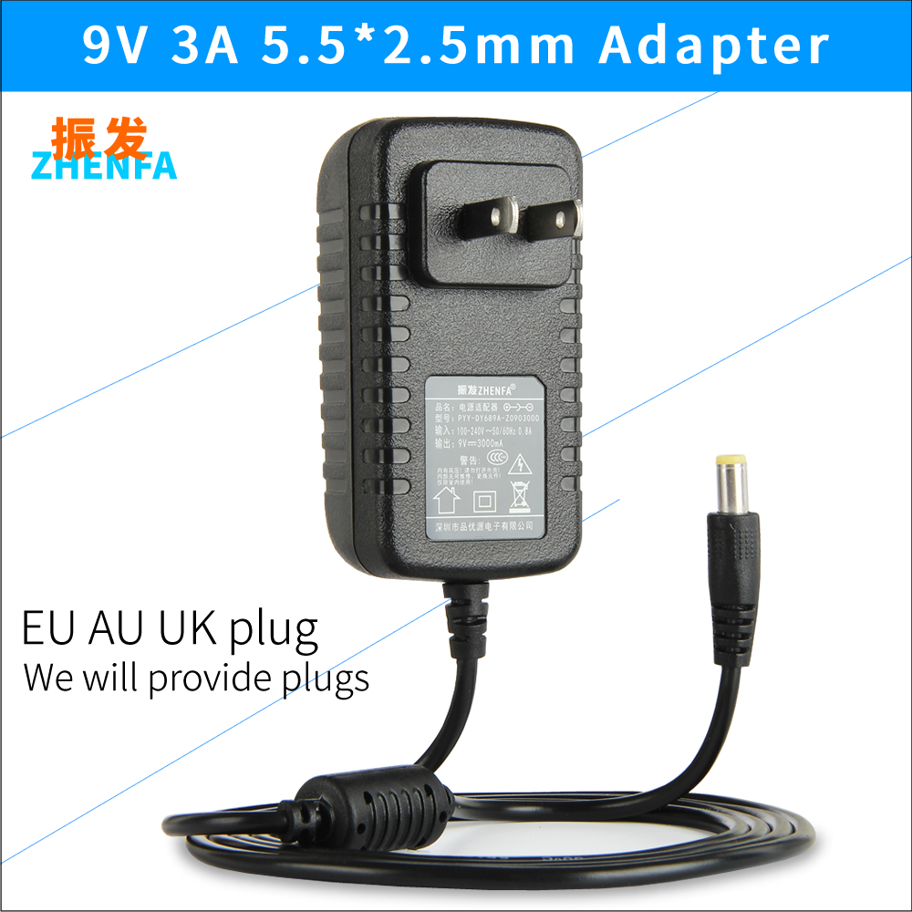 9V 3000mA 3A Universal AC DC Power Supply Adapter Wall Charger for Polaroid Digital Z2300 Camera Free Shipping