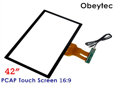 "Obeytec 42"" Wide Capacitive Touch Screen, 16:9, 10 Touch Points, PCAP Touch panel, Driver free, Support Customized"