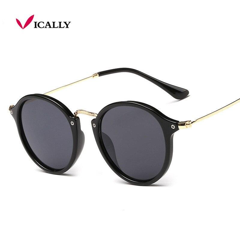 Retro masculino gafas de sol redondas mujeres hombres marca - Accesorios para la ropa