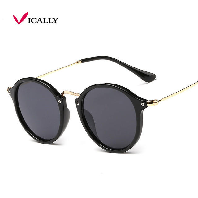 d3aee9ac5da Retro Male Round Sunglasses Women Men Brand Designer Sun Glasses for Women  Alloy Mirror Sunglasses Ray Ladies Oculos De Sol