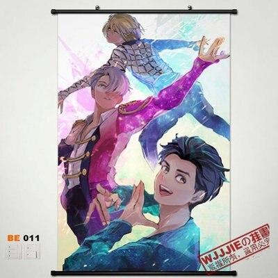 Christmas gifts Home Decor Japan Anime Wall Poster Scroll Collection YURI!!! on ICE Yuri Katsuki Viktor . Ni BE011 60*45