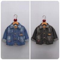 2016 Autumn New Korean Children's Garment Girl Baby Holes Cowboy Loose Coat Girl Jacket Cardigan Defence Windbreaker Smock