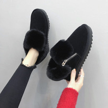 Winter Woman Boots Fashion Ankle Boots Casual Mother Waterproof Platform Warm Shoes fur Plush Woman Snow Boots Size 35-40