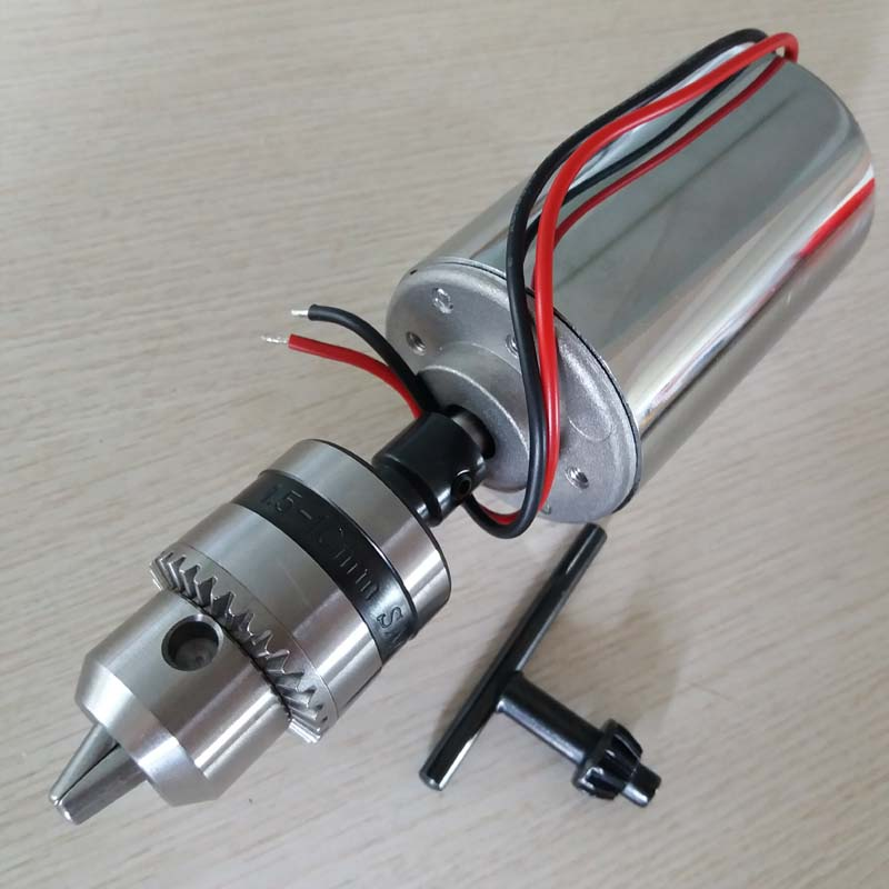 200W DC Spindle Motor , DC12-48V 12000rpm, Engraving Milling Grind Air-cooling Long Mouth Tightening 1.5mm - 10mmspindle Motor