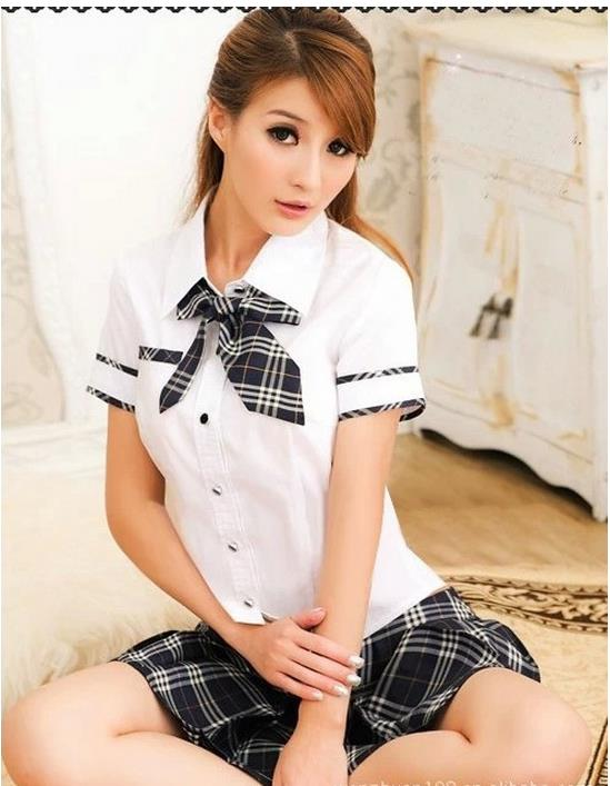 Sexy Costumes Fun Clothing New Fashion Pure Black Plaid School Uniforms Uniforms Sexy Lingerie Skirt Suit Rpg Shirt 11193a In Sexy Costumes From Novelty