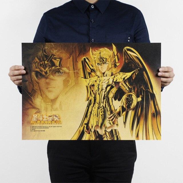 US $1 63 18% OFF|Saint Seiya / Legend of Sanctuary/classic Cartoon movie  Comic/kraft paper/bar poster/Retro Poster/decorative painting 51x35 5cm-in