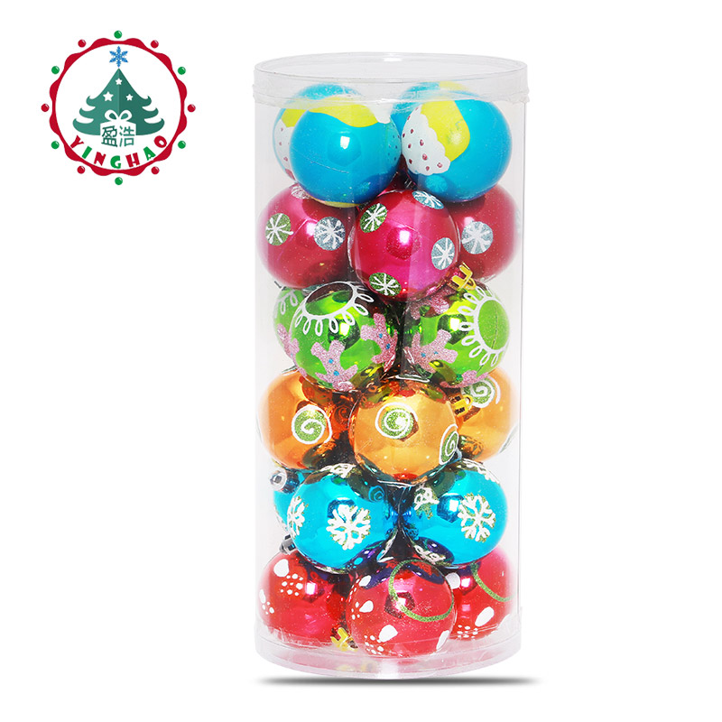 Inhoo Decor 24pc Multicolor Theme Pack Ornaments For Tree
