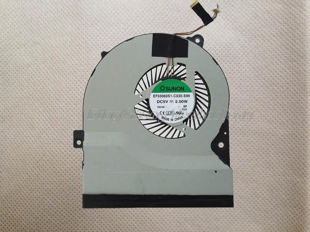 Free shipping Original and New CPU Cooling fan FOR ASUS S56 S550CM S56CA S56CB K56 EF50060S1
