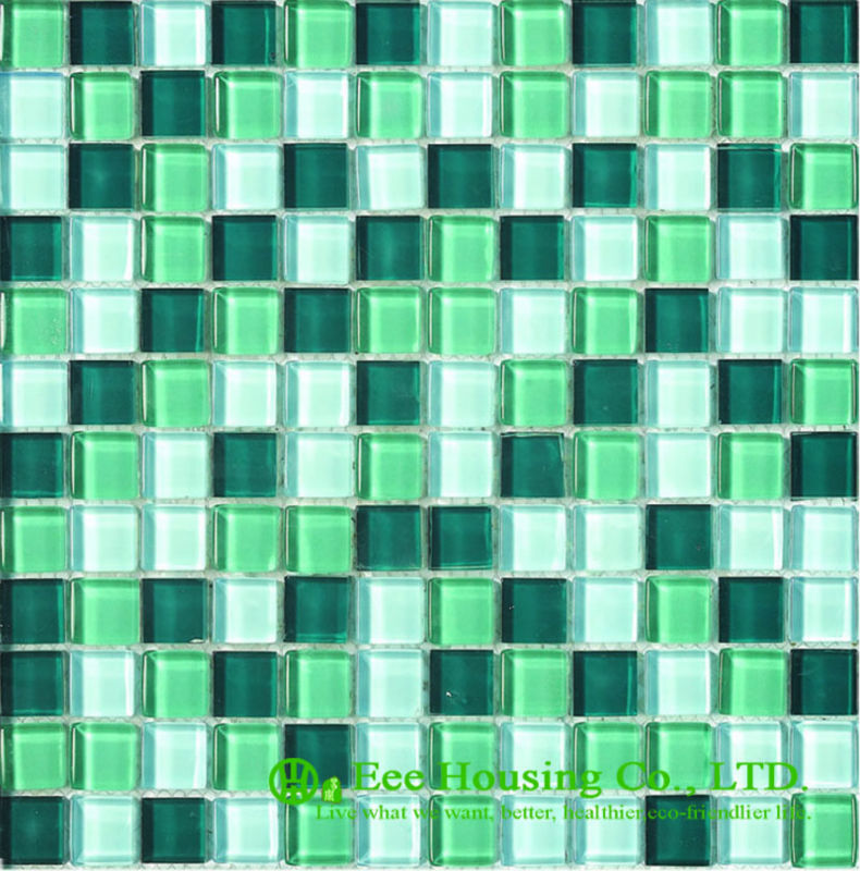 Anti-dust 300mm*300mm Glass Crystal Mosaic Tile For House Decoration,Fade Resisitance