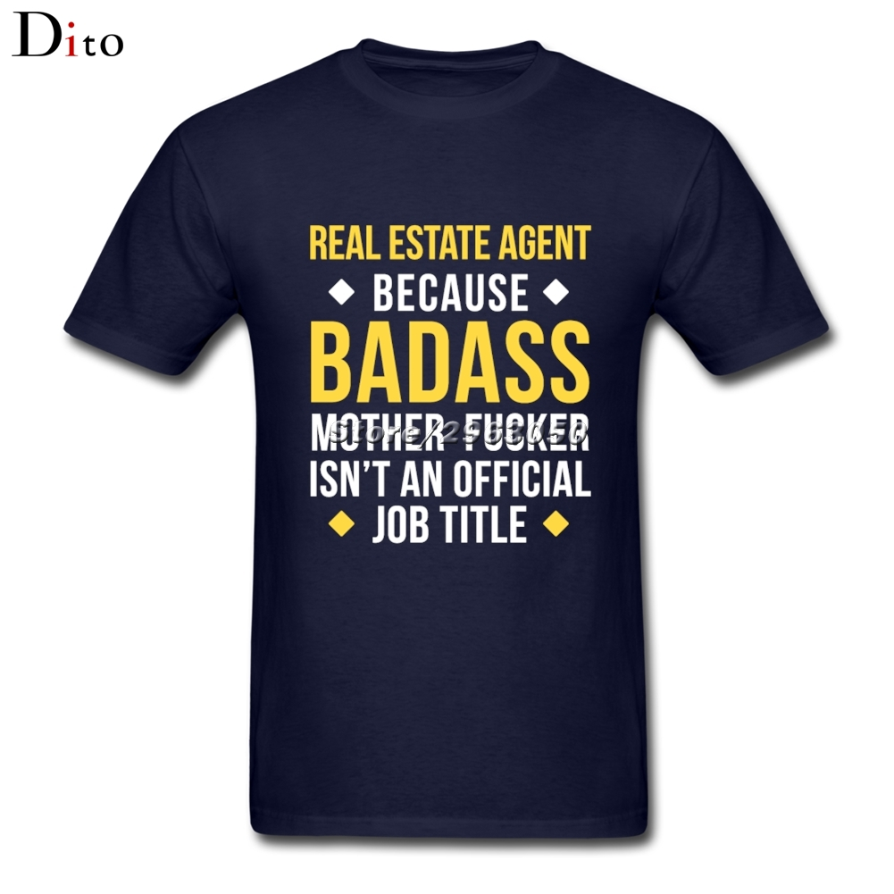 Задира агент по недвижимости футболка Для мужчин Мода на заказ короткий рукав бойфренда большой Размеры пара футболка ...