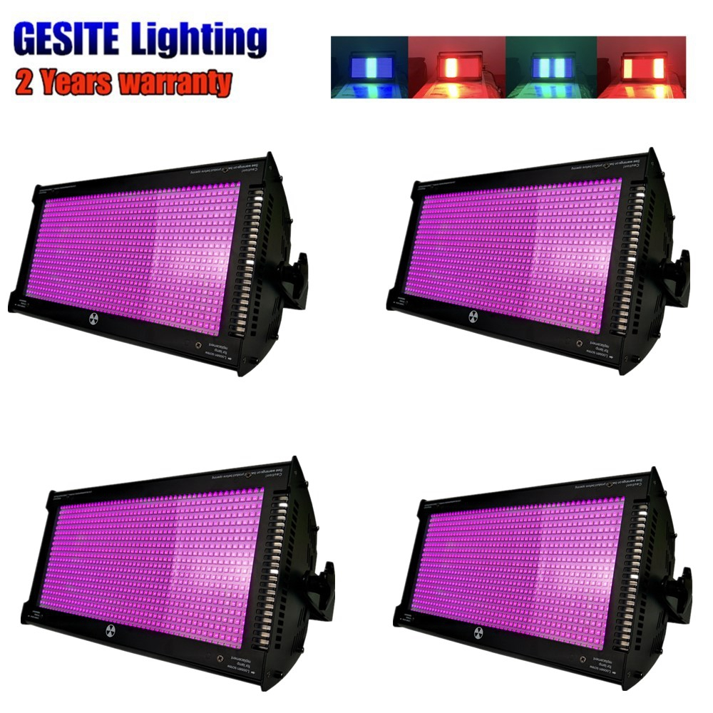 4pcs /lot High Power 5054 SMD LEDs Super Bright 1000W White Disco DJ Wedding LED DMX Strobe Light