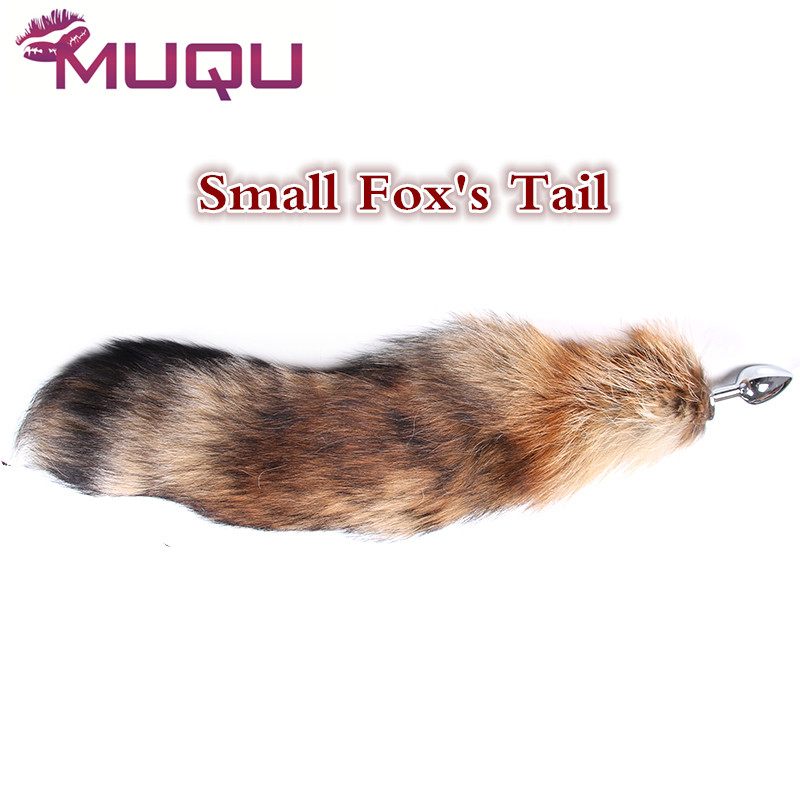 Small Size Long Metal anal toys Fox tail Anal Plug erotic toys Butt Plug sex toys for woman and men sexy Buttplug adult sex toys contrast lace applique t shirt