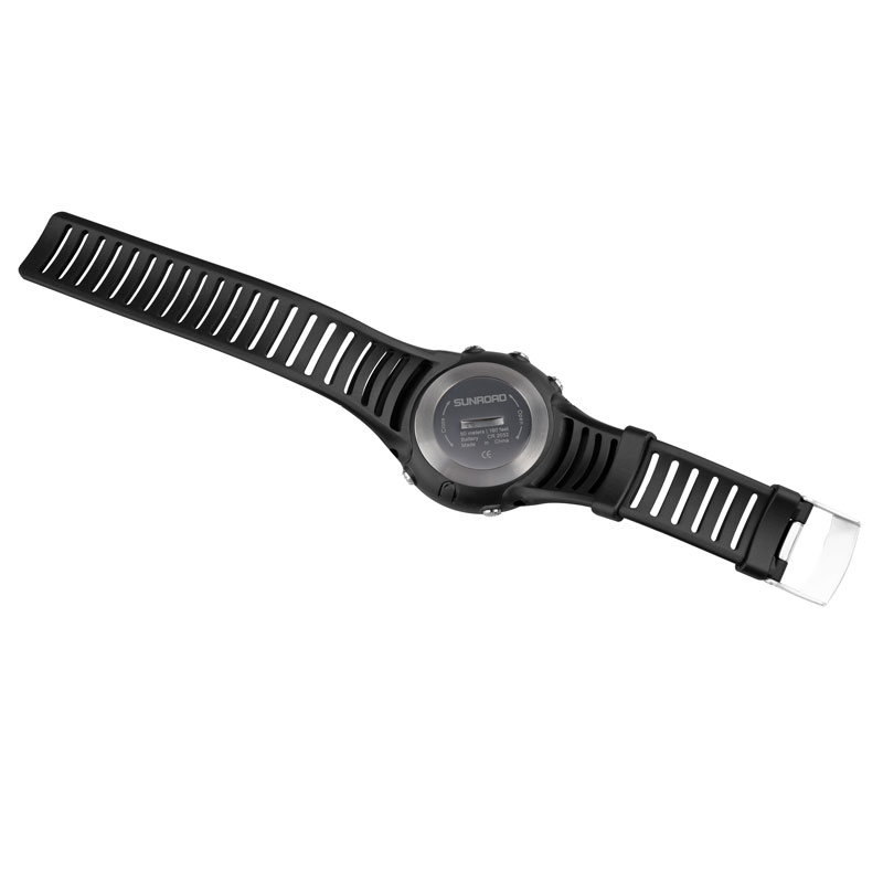 Image 2 - Free Shipping Original 25mm Black Silicone Rubber Watch Strap Waterproof Sports Watch Band For WristsWatch Sunroad FR802 FR720watch band sizing toolwatch kidwatch band pin removal tool -