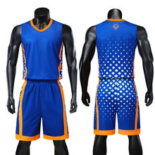 9045b5fd7 Personality Reversible Men Basketball Jerseys Sets Team Uniforms Sports Kit Shirts  Shorts Suits Breathable Customized Print