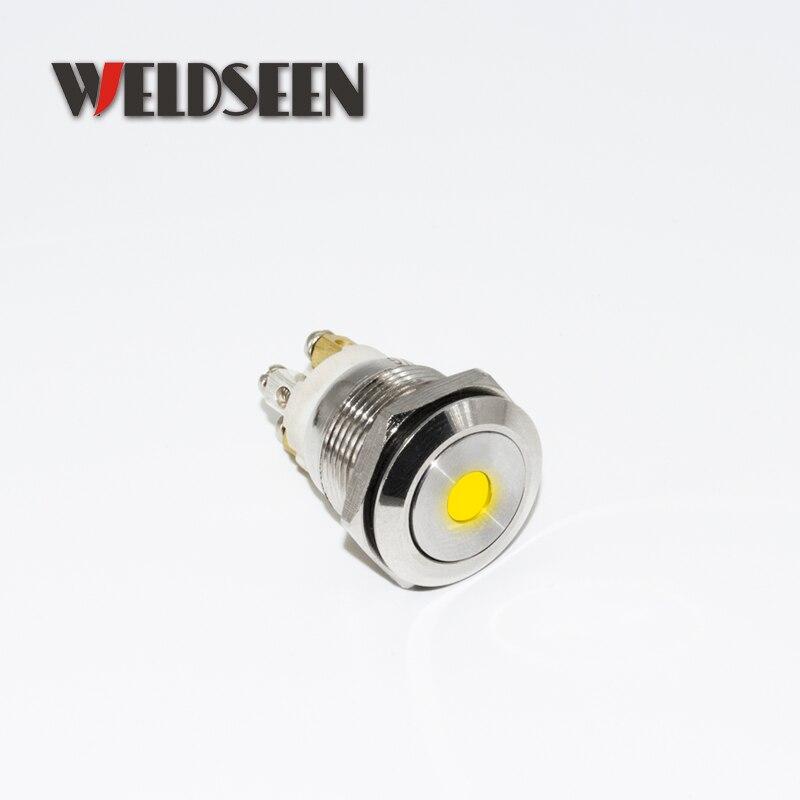 19mm 22mm Reset Momentary Metal Push Button Switch LED Light 12V 24V 110V 220V 4 Screw Foot Waterproof Car Power Button Switch in Switches from Lights Lighting