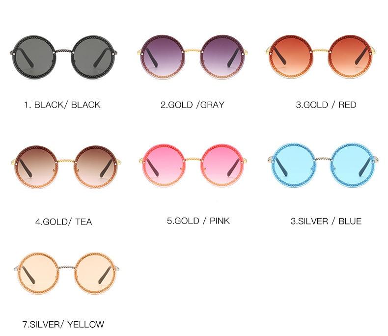 3 round women sunglasses brand designer