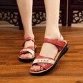 2017 verão novas sandálias mãe de meia idade lazer sandálias macias confortáveis não-deslizamento grandes sandálias femininas tamanho 35 39 40 41