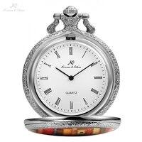 Retro KS Roman Number Analog Dial Silver Books Library Case Round Face Chains Quartz Clock Men Key Pendant Pocket Watch /KSP095