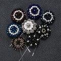 New Hot clássico contas feitas à mão broches Pin para mulheres e homens terno tecido colar de flores de moda terno dos homens acessórios corpete