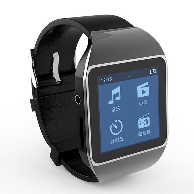 2015 nueva moda de pantalla táctil inteligente reloj reproductor de mp3 4 GB bluetooth de tipo deportivo running FM radio envío gratis